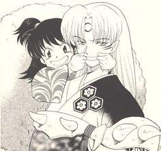 Sesshomaru's Forced Smile | Rin forces a smile on Sesshomaru… | Flickr