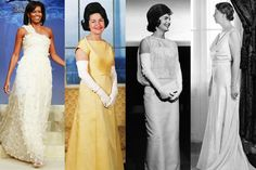 First Lady Inaugural Ball Gowns Through the Years Red Carpet Dresses, Ball Dresses, Ball Gowns, First Lady Portraits, American First Ladies, American Presidents, Formal Gowns, Beautiful Gowns, Frocks