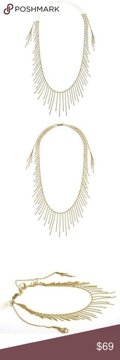 "NWT Michael Kors Modern Fringe Adjustable Necklace 100% Authentic Michael Kors!  Buy with confidence!  • MSRP: $145.00 • Style: MKJ5793710  Features: • Material: Stainless Steel • Approx. Length – 32""  • Signature MK Charm with Cubic Zirconia • Adjustable Slide closure • MK Original Pouch and Care Guide  Please feel free to ask any questions. Happy shopping! Michael Kors Jewelry Necklaces"