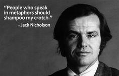 Jack Nicholson by Senza Titolo on Tumblr: Ha!