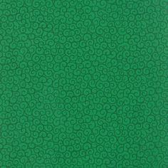 "Dark Green Filigree 108/"" wide by Studio E Fabrics bty  PRICE REDUCED"
