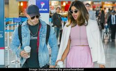 Viral: Priyanka And Nick Spotted Travelling Together. Pics Here  ||  Viral: Priyanka Chopra And Nick Jonas Spotted Travelling Together. Pics Here Nick Jonas and Priyanka Chopra were busy conversing and sipped coffee as they walked around the airport Entertainment | Written by Nilanjana Basu | Updated: June 09, 2018 10:11 IST Share Priyanka Chopra, Nick Jonas at JFK airport https://www.ndtv.com/entertainment/viral-priyanka-chopra-and-nick-jonas-spotted-travelling-together-pics-here-1864815