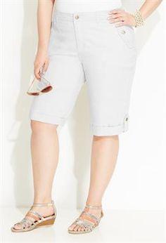 Cuffed Chino Cargo Bermuda Short | Plus Size Shorts SALE | Avenue