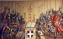La firenze medievale era una continua lotta tra fazioni, che la accompagnarono dal XII secolo fino alla fine delle signorie. Queste fazioni era due: quella dei guelfi e quella dei ghibellini (rispettivamente alleati con il papa il primo e con l'imperatore il secondo)