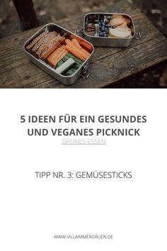 Grünes Essen | Tipp Nr. 3: Gemüsesticks Tofu, Vegan Treats, Vegan Chocolate, Fresh Fruit, Delicious Snacks, Healthy Snack Foods, Healthy Picnic