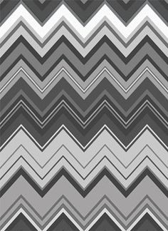Quilting Treasures Chevron Chic Flamestitch Black