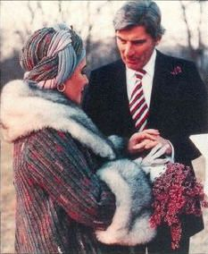 Wedding No. 7 - actress Elizabeth Taylor and politician John Warner married in 1976 (divorced in1982)
