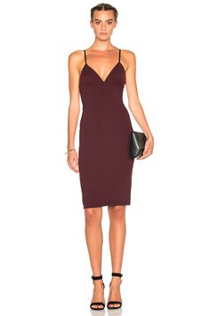Image 1 of T by Alexander Wang Fitted Dress in Aubergine