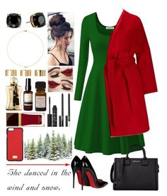"""""""//Green & Red//"""" by kokoxx on Polyvore featuring Christian Louboutin, Phase Eight, Tory Burch, Sole Society, ASOS, Parfums de Marly, Aesop, Aurelia Probiotic Skincare, Tom Ford and Dolce&Gabbana"""