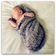 Download Now - CROCHET PATTERN Little Peanut Snuggle Sack - Pattern PDF