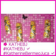 #sunflower #chic #diseño #design #uñas #nails #KATHEBJ ✔