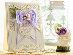 Thank you Card Making Ideas by Becca Feeken using Waltzingmouse Stamps and Spellbinders