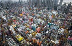 狂気と美しさ、香港の高層ビルが密集する風景。5枚【Phot】