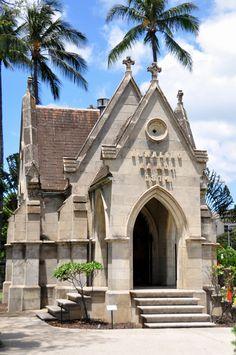 Mausoleum of King Lunalili in 1800's, Honolulu, Hawaii, USA.