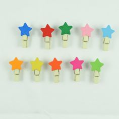 Rainbow Stars PaperClips #DecoClips