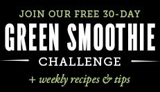 Simple green smoothie recipes- Join our free 30-day green smoothie challenge + weekly recipes