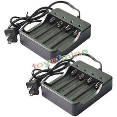 Universal quality 4 Slots Universal Battery Charger With US AC Plug For 4X 18650 18500 18450 GTL Li-ion Rechargeable Batteries