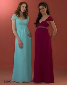 I particularly like the red on!   Maternity Bridesmaid Dress