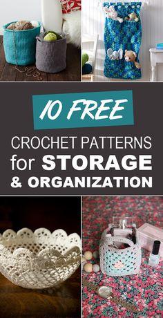 diytotry: 10 Free Crochet Patterns for Storage and Organization http://ift.tt/1ZkWTzD