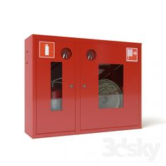 Fire cabinet (1 sleeve, 1 fire extinguisher)
