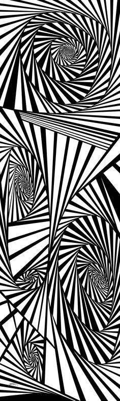 dreameries - Dynamic black and white optical obsession, organic abstract by Douglas Christian Larsen - http://fineartamerica.com/featured/dreameries-douglas-christian-larsen.html