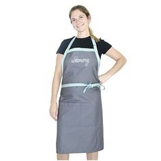 """awesome Cooking Apron with 2 Pockets for Adults Men and Women. Adjustable Neck, ONE Size fits most: Small, Medium, Large & XL. 33.5"""" x 29"""". Bib and Waist Apron. Kitchen Professional."""