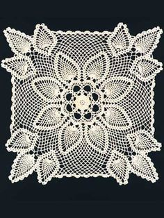 crochet Ireland doily | Vintage Crochet Irish Rose Square Doily Motif Pattern x