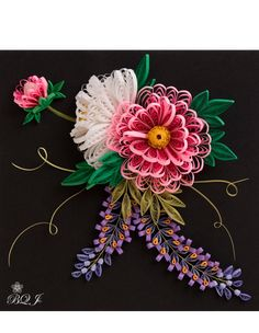 Beautiful Quilled Floral art