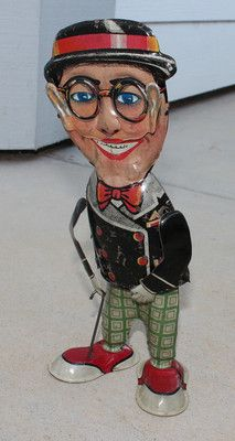 Antique Vintage Marx TIN Litho TOY Harold Lloyd Wind UP Clockwork Walker