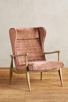 Slub Velvet Roadway Chair - anthropologie.com