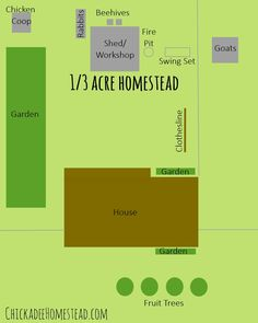 Our 1/3 of an acre homestead layout - You don't need a lot of acreage to homestead! | ChickadeeHomestead.com
