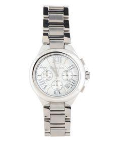 Silvertone Camille Bracelet Watch