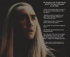 Thranduil and Êlúriel have a quiet moment before their wedding. #thranduil. #thranduilandeluriel. #tolkienfanfiction. #woodlandrealm.