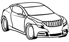 Cool Cars Acura TSX Coloring Page - Acura car coloring pages