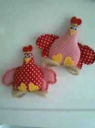 Resultado de imagem para enfeite de cozinha com galinha de pano