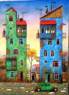 """DAVID MARTIASHVILI   Tbilisi - Georgia, 1978      """"La alegría de un pincel Georgiano""""  (1)           DAVID MARTIASHVILI - Óleo sobre lienzo..."""