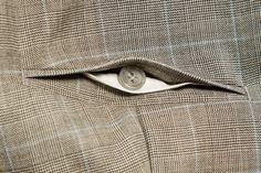 Hand made trousers from a fine Glenurquhart plaid with a blue overcheck, and brass buckled straps for fastening. 4