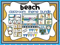 BEACH THEME BUNDLE-classroom theme {printables). I designed this classroom theme packet as a follow-up to my original BEACH THEME CLASSROOM PACKET. Use them together to create a fabulously themed classroom environment that students will love!