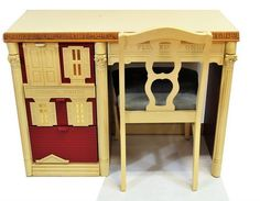 Vintage 6 Piece Dollhouse Furniture set 1980s