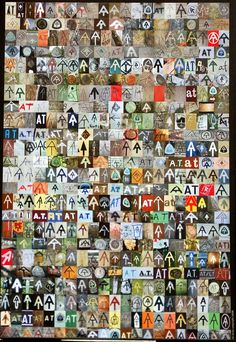 The AT poster is comprised of 444 different Appalachian Trail symbols, in chronological order, that photographer Sarah Jones shot on her 2008 thru-hike. $10.00  Now this is a poster.