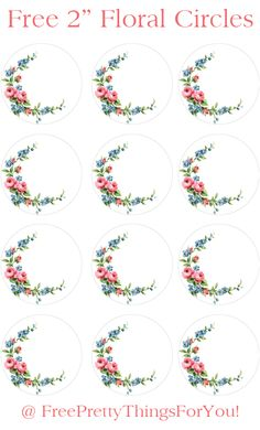 Labels: Free 2 inch Floral Shabby Circles - Free Pretty Things For You