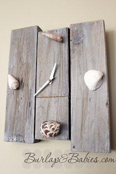diy beach clock gift   easy, diy Christmas present for family that love the beach!