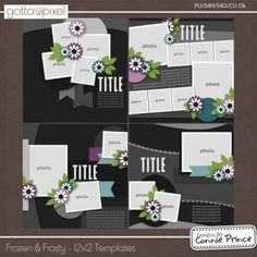Frozen & Frosty - 12x12 Temps (CU Ok). Digital Scrapbook product at Gotta Pixel. www.gottapixel.net/