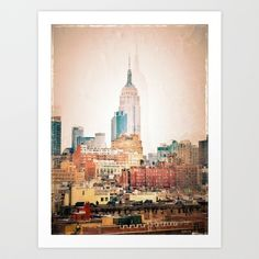 NYC Vintage style Art Print by Love2Snap - $17.68