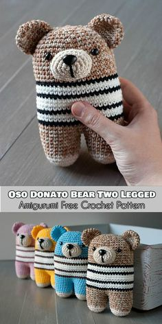 Oso Donato Bear Two Legged- Amigurumi - Free Crochet Pattern