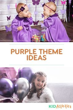 A collection of purple themed ideas and a list of purple items. Great ideas for a purple birthday or a purple theme day in the classroom. Holiday Activities For Kids, Games For Toddlers, Kid Activities, Crafts For Kids, Purple Food Coloring, Quick And Easy Crafts, Purple Birthday, Purple Themes, Outdoor Crafts