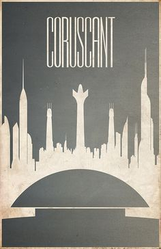 Coruscant / Star Wars Planets by Justin Van Genderen (http://www.flickr.com/photos/justinvg/sets/72157624341432442/) buy here: http://www.etsy.com/shop/JustinVG