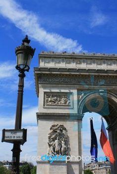 Arc De Triumph, Paris France Stock Photo