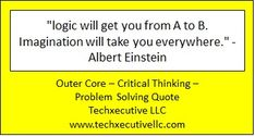 Critical Thinking Quotes, Outer Core, Albert Einstein, Problem Solving, Coaching, Training