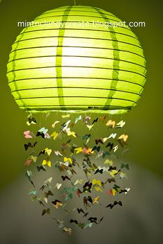 If only i had a little girl :( Butterfly Lamp - A great tutorial on how to make it!  :)